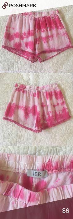 Tobi Flowy Shorts Tobi pink tye dye flowy shorts. Size XS. Worn once, no flaws. Tobi Shorts
