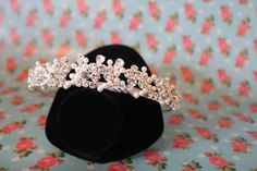 New in! Gorgeous Peal & Diamond tiara available at Jadie Leigh Bridal Boutique