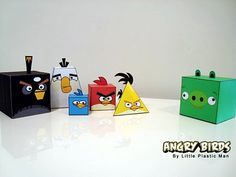Angry birds are everywhere! Here they are as geometric solids.