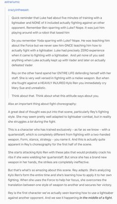 #theforceawakens on Rey's fight with Kylo Ren on the Starkiller base