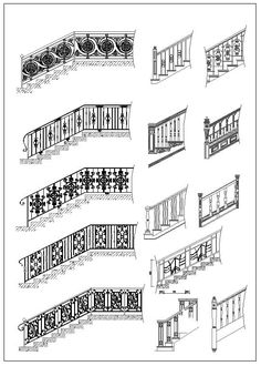 Ornamental Stair and Elevation – CAD Design | Free CAD Blocks,Drawings,Details