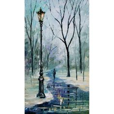 ON SALE! - Begining Of Winter - $39.99 - Foggy - Hand Painted - Oil Paingings for Sale - Oil on Canvas - Cheap Canvas Art
