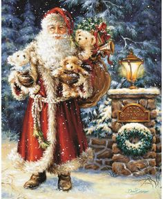 SANTA BY THE CHRISTMAS TREE 500 TEILE PUZZLE