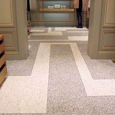 Pucci flagship store in Shanghai installs Flowcrete China flooring - DesignCurial | floor pattern | terrazzo