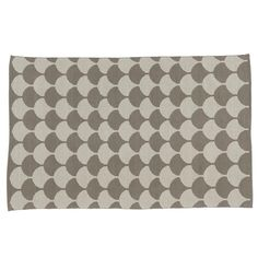 Half Shell Scallop Pattern Rug (Grey) | The Land of Nod
