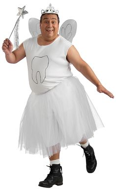Nailed it!  Tooth and tooth fairy costume | Plus Size Tooth Fairy Costume - Funny Costumes
