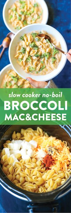 Pan Asian Stir Fry Slow Cooker Creamy Broccoli Mac and Cheese The easiest mac and cheese of your life No boil noodles no condensed soup Completely homemade and SO GOODSl. Slow Cooker Broccoli, Crock Pot Slow Cooker, Crock Pot Cooking, Slow Cooker Recipes, Crockpot Recipes, Cooking Recipes, Cooking Tips, Keto Recipes, Pastas Recipes