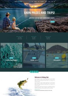 Beneath, we have drilled down best fishing website templates that'll work perfectly for your fishing business. Going Fishing, Best Fishing, Fishing Tips, Fishing Websites, App Landing Page, Workout Tops For Women, Fishing Photography, Web Design, Site Design
