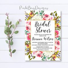 Hey, I found this really awesome Etsy listing at https://www.etsy.com/listing/549580101/floral-bridal-shower-invitation