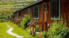 Alpine House: The cozy European-style Alpine House sits amid the grand scenery of the mountains of Wyoming.