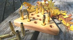 Man Cave Decor - Triangle Peg Game with .223 Bullets.  Great gift for hunters.