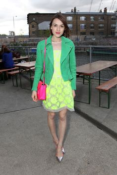 Head to toe neon at the @Karen Jacot Jacot Millen No More Tiaras supper party