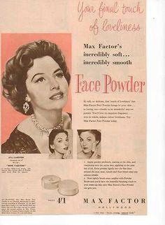 Original Vintage Magazine Advert Ava Gardner Endorses Max Factor 1950s