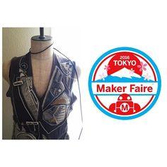 8月に東京ビックサイトで開催されるmaker faire tokyo2016に出展が決まりましたarduinoの刺繍ドレスとヘッドアクセを着用して初のブローチ販売を行いますぜひ遊びにいらして下さい #arduino #mft2016 #makers #electronic #robot #luneville #リュネビル刺繍 #電子工作 #art #tokyo #maxmsp by maylilyq