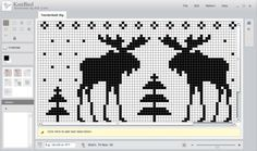 Sånn av og til får jeg strikkeinnfall som det ikke finnes mønster til eller som jeg ikke kan få t... Cross Stitch Alphabet, Cross Stitch Baby, Cross Stitch Animals, Filet Crochet, Crochet Chart, Beaded Cross Stitch, Cross Stitch Embroidery, Cross Stitch Designs, Cross Stitch Patterns