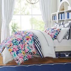 Pottery Barn Teen Watercolor Blooms Reversible Duvet Cover #Sponsored , #PAID, #Teen#Watercolor#Pottery
