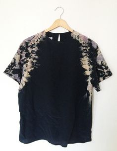 Black Hand Dyed Shibori Top $38.00