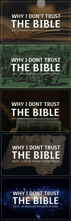 Distrust of the Bible
