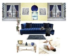 """""""the unbearable lightness of being"""" by la-rosy ❤ liked on Polyvore featuring interior, interiors, interior design, home, home decor, interior decorating, Pottery Barn, Kim Salmela, PTM Images and Currey & Company"""
