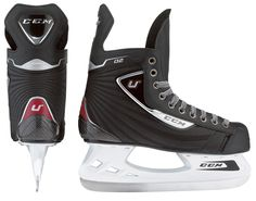 U + 02 - Senior Skate £101.99  KEY FEATURES:  Quarter: .....................Durable embossed nylon    Liner: ..........................Comfort    Outsole: ..................... Low profle injected     Footbed: ....................CCM    Tongue: ......................Comfort felt     Runner: ......................Carbon steel  SIZING / SPECIFICATIONS:  Senior:........................ 6-12       D       F