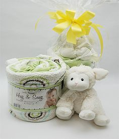 Little Miracles Hug & Snug   This Adorable White and Green Sherpa Blanket is 30 inches by 45 inches and is 100% machine washable soft and cuddly. It also comes with a Soft White Lamb Accented With a Yellow Satin Ribbon for the New Baby in Your Family!  $29.95   Available for Same Day Local Delivery   Purchase at any Norfolk Florist location   Also Available For Out of Town Shipping