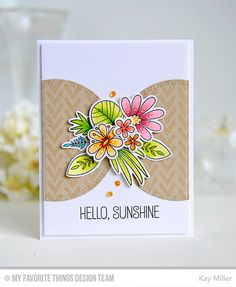 My Joyful Moments: MFT Blissful Blooms Card by Kay Miller.
