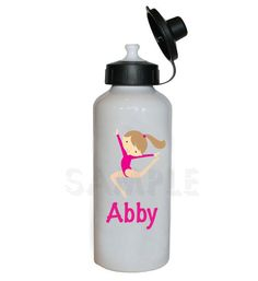 Gymnastics Water Bottle Gymnastic Personalized Water Bottle on Etsy, $20.00