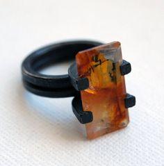 Silex Ring OOAK Size 7 by mariagotijoyas on Etsy