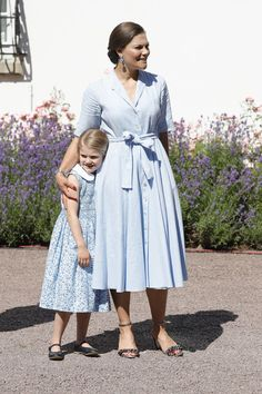 Princess Victoria Shirtdress - Princess Victoria celebrated her 40th birthday at Solliden Palace wearing a simple blue shirtdress by Camilla Thulin.