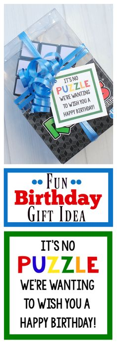Creative Birthday Presents for Kids. Kids will love this rubiks cube gift! It is so cute. #birthday #birthdaygift #kidsgiftidea