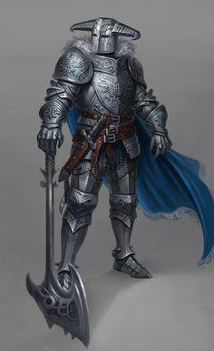 (Fantasy-People/Beings) inspirational stuff. Fantasy Concept Art, Fantasy Armor, Fantasy Character Design, Dark Fantasy Art, Medieval Fantasy, Character Design Inspiration, Character Art, Armadura Medieval, Ornstein Dark Souls