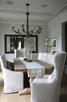Luxury Dining Room Chair Covers White About Remodel Interior Design Ideas For Home Design with Dining Room Chair Covers White Dining Chair Slipcovers, Dining Room Chairs, Grey Dining Rooms, Lounge Chairs, Slipcover Chair, French Dining Chairs, French Table, Desk Chairs, Rocking Chairs