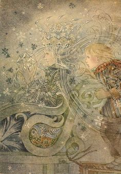 'The Snow Queen' illustrated by Sulamith Wülfing.