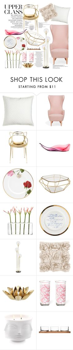 """upper class chic"" by kelle-elizabeth on Polyvore featuring interior, interiors, interior design, maison, home decor, interior decorating, Pom Pom at Home, Tom Dixon, Kartell et Kate Spade"