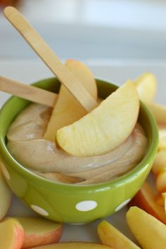 It makes me feel like a good mom when I give my kids this peanut butter apple dip because it's healthy for them!