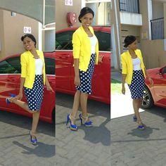 One of the best in my wardrobe ❤ Yellow Blazer, My Wardrobe, Style Me, Dresses For Work, Fashion, Moda, Fashion Styles, Fashion Illustrations