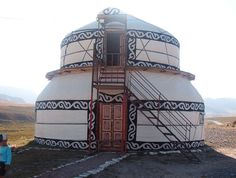 Two story Yurta near Too Ashu. >> What a beautiful yurt!                                                                                                                                                                                 More