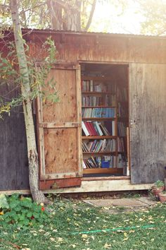The Library Shed - When the books were too many for the little house? We made our very own library.