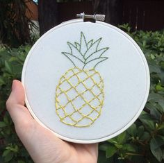 """Pineapple 5"""" Embroidery 