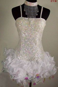 White Sequin Dress. I dunno I kinda like it:)