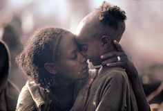 Bond between mother and child. Ethiopia, 1984.