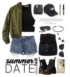 """""""Summer Date: The State Fair"""" by tessawarongan on Polyvore featuring T By Alexander Wang, Dr. Martens, Skinnydip, adidas and Quay"""