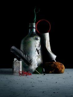 "Photographer Philip Karlberg assembles trash for his still life series ""Debris"""