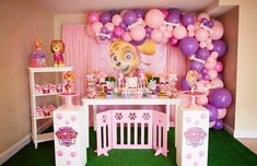 Girl Paw Patrol Party, Sky Paw Patrol, Paw Patrol Birthday Decorations, Paw Patrol Birthday Theme, Paw Patrol Balloons, Paw Patrol Cupcakes, 2nd Birthday Parties, Skype, Havana Nights