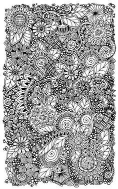 Ethnique floral r tro zentangle doodle motif de fond cercle dans le vecteur Banque d'images