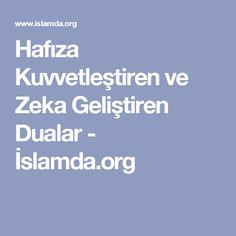 Hafıza Kuvvetleştiren ve Zeka Geliştiren Dualar - İslamda.org