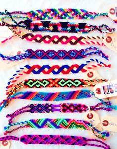 """Pass it on:Handwoven Nicaraguan """"pulseras"""" from the Pulsera Project. Sell them in your school to educate students about life in Latin America while raising money for communities in Central America! Being involved is 100% free, and we send everything you need to set the project up!"""