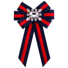 £2.69 GBP - Pretty Bowknot Women Tie Bow Brooches Shirt Cloth Clip Scarf Brooches Pins #ebay #Fashion