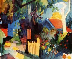 """netlex: """" August Macke (1887-1914) Garden Landscape (n.d.) """""""