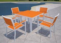 Pollywood Outdoor Casual Dining Set via The Beach Look. Click on the image to see more!